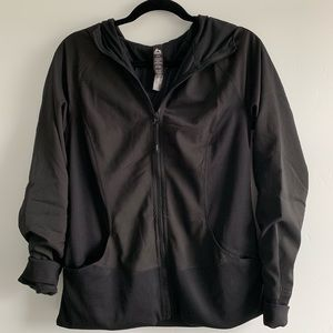 Black fitted active jacket